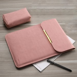 11 PU Leather Women Men 12 14 15 Matte Sleeve Laptop Bag 15.6 For Macbook Air 13 Case For Xiaomi Samsung Lenovo Notebook Cover
