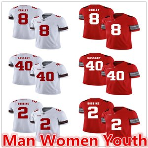 Gareon Conley 8 Howard Cassady 40 J. K. Dobbins 2 Jersey Jerseys customize NCAA Ohio State Buckeyes Fußball irgendein Name Nummer S-5XL