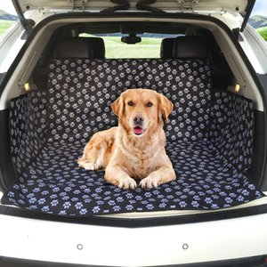 Pet Dog Cat Car Rear Back Seat Carrier Cover Mat Blanket Hammock Cushion Protector Polyester Waterproof Mat Adjustable Belt