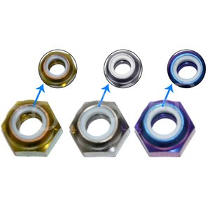 10pcs M4 M5 M6 M8 M10 M12 Titanium Multicolor Nylon Lock hexagon Nuts Screw Cap with Flange Race Spec For RC By Rac