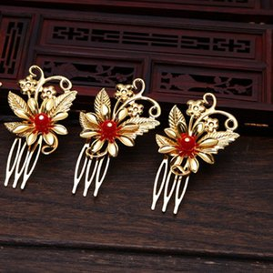 2 count Chinese traditional new arrival fashion vintage jewelry bride wedding hairpin flower festival gift