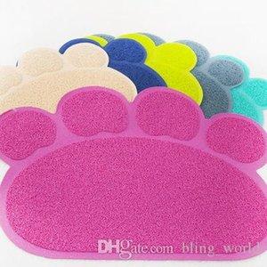 Pet Köpek Besleme Mat Pad Paw PVC Yatak Bulaşık Yerleşimler Kedi Kumu Mat Hayvan Yemi Su Besleme Yerleştirme Evcil Halı Pet Aksesuar YFA215