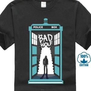 Eu Criar-me T Camisa Homens Lobo Mau T Shirt Doctor Who Tshirt Tardis Tops Dr. Who Dos Desenhos Animados T Shirt Preto Atacado Desconto Hipster