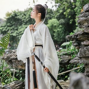 Chinese Traditional Hanfu Dress Tang Suit Tops Skirt Men Women Japanese Samurai Cardigan Kimono Yukata Robe Gown Cosplay Costume T200525