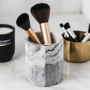 50 Nordic Marble Grain Ceramic Makeup Makeup Storage Jar