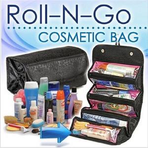 ROLL-N-GO Cosmétiques Organisateur maquillage Trousse de toilette Hanging poches Compartiment Voyage Kit rouleau-N-Go Sacs Bijoux