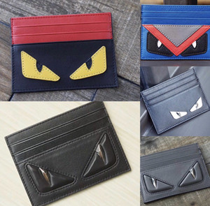 Monster Cowhide Leather Card Holder Men and Women Multiple walle Holder Slim Bank Card Box Coin Purse Cartoon Coin Purse Credit Card Holders