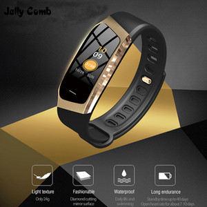 heap Smart Watches Jelly Comb Smart Watch For Android IOS Blood Pressure Heart Rate Monitor Sport Fitness Watch Bluetooth 4.0 Men Women S...