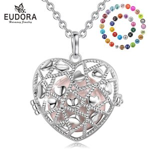 Eudora 20mm silver Heart Cage Harmony Ball Chime Bell Pendant Angel Callant sound Bola Said for Baby Pregnancy Jewely K389