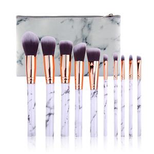 10 stücke Marmor Patten Make-Up Pinsel für Cosmetic Powder Foundation Lidschatten Lippen Make-Up Pinsel Set Schönheit Werkzeug Maquiagem Dropship