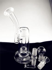 """DP Glasbecher Bong Dab Rig Wasserrohr Dickes Glas Bongs Recycler Dab Rig 10"""" Tall-Rohr mit Schüssel Stück FREIER SHIPING"""