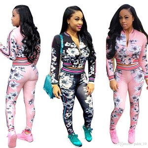 High Quality Female Fashions Ladies Tracksuits Women African totem Printing 2 Pieces Set Active Suit Casual GILLIE GRAPHIC Long Pants