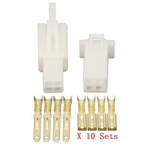 10 Sätze / Kits 2,8-4 Pin / weg DJ7041A-2,8 Elektrischen Draht Stecker Männlich und weiblich Automobil Stecker
