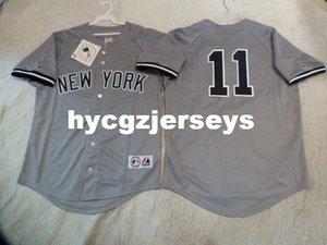 Ucuz beyzbol NY BRETT GARDNER # 11 dikili gömlek Jersey GRİ Yeni Erkek Satılık formaları Büyük Ve Uzun SIZE XS-6XL dikişli