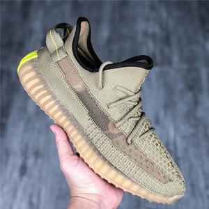 VENTA Kanye West V2 de los zapatos corrientes Desert Sage Tierra color retorno a la Tierra Yeezreel Yecheil 2.0 zapatilla de deporte para mujer para hombre diseñador
