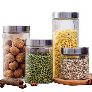 Cocina Caja de almacenamiento Sellado Conservación de alimentos vidrio Recipiente de olla fresca Organizador Herramienta Convenience Furniture Home Simple