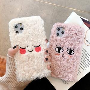 아이폰 11pro 최대 겨울 플러시 만화 휴대 전화 쉘 커플 귀여운 소프트 쉘에 적합