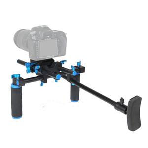 Freeshipping F14123 CS-V1 Lega di alluminio impugnatura supporto DSLR Spalla Mount Rig Stabilizzatore fotocamera Dslr Rig facile per ripresa della macchina fotografica