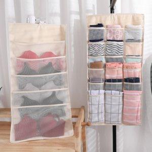 Nuevo colgante del bolso del organizador de almacenamiento de soporte para la ropa interior calcetines Lazo con grandes bolsas de Hogares de almacenamiento Organizador Bolsa
