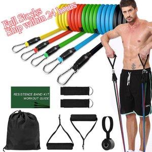 Bandes de résistance Set Crossfit Traduction Train de Yoga Exercices de remise en forme Tubes d'expandeur en caoutchouc pour la maison Pilates Pilates Tirez la corde
