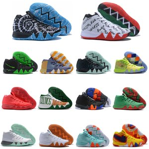 Nouvelle arrivée Kyrie IV Lucky Charms Hommes Basketball Chaussures Hommes Top qualité Irving 4 Confetti Couleur Vert Designer Baskets Sneakers