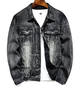 Vintage Panelled Mens Designer Jean rivestimenti di modo allentato Tasche con pannelli Mens Demin giacche casual Maschi Abbigliamento