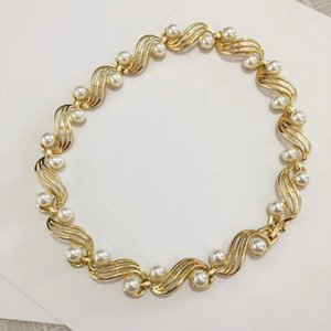 retro Napier antique jewelry elegant Royal Gold Pearl Necklace Vintage Neckless Choker women collier femme 2020 luxury jewellery