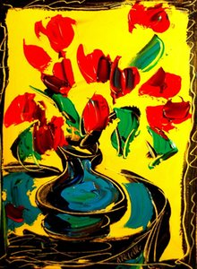 a108# Flowers Home Decor Handpainted &HD Print Oil Painting On Canvas Wall Art Canvas Pictures 200201