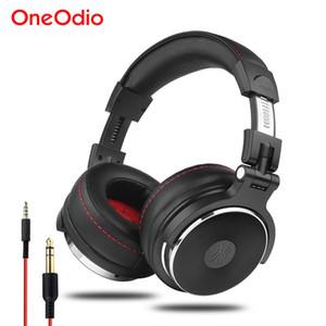 Oneodio Wired Professional Studio Pro DJ наушники с микрофоном над ухом HiFi монитор музыкальная гарнитура наушники для телефона ПК