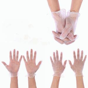 100 PCs (50 pairs) tek kullanımlık PVC lastik eldiven Temizle toz - ücretsiz kişisel koruyucu vinil muayene eldiven için çalışma / laboratuvar/Bahçe