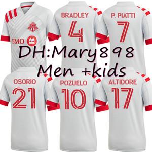 Adultos y niños 2020 2021 Toronto FC de fútbol de los jerseys 20 21 Uniformes ALTIDORE pozuelo Toronto Morrow BRADLEY camiseta de fútbol de tamaño de las camisas S-XXL