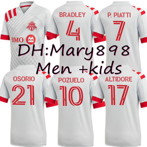Adultes et enfants 2020 2021 Toronto FC Maillots de football 20 21 Altidore Pozuelo Uniformes Toronto MORROW BRADLEY JERSEY football taille chemises S-XXL