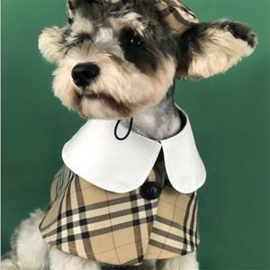 Personalidade Manto listra animais Hat Define bonito teste padrão do desenhista Pet Cosplay Costumes Festival na moda Charme Schnauzer Cloak
