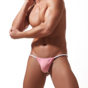2019 Herren Unterwäsche Sexy Transparente Persönliche Slips Bikini String Tanga Jocks Unterhose Mann Shorts Exotic T-back