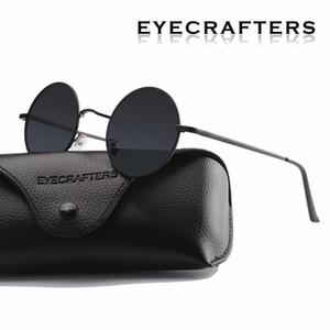 Donne che guidano occhiali in metallo Nuovo designer di marca Occhiali da sole rotondi polarizzati classici Uomini Piccoli vintage Retro Occhiali John Lennon