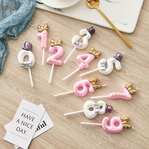 Number Cake Candle Birthday Party Supplies Cake Topper Anniversary Cake Numbers Age Candle Party Decoration WB1882