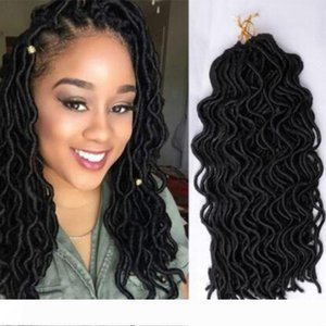 18 inch Godess Curly Locs Crochet Hair Extensions Faux Locs Crochet Braids Braiding Hair Bulk Synthetic Hair Ombre Braids For Fashion Women