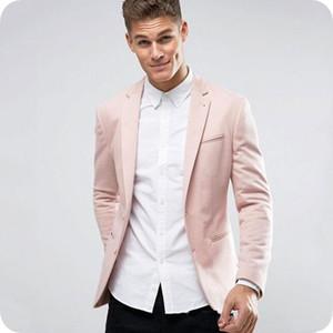 Light Pink uomini vestiti di cerimonia nuziale Slim Fit sposo smoking dello sposo di usura di promenade del partito Best Men Blazer 2 Pezzi (giacca + pantaloni)