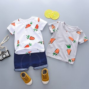 Toddler Boys Clothing Sets 2020 Summer Baby Boys Clothes T-shirt+Shorts Outfit Suit Casual Kids Tracksuit Suit Children Clothing