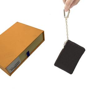 Key Wallets Geldbörsen Portemonnaie Mens Key-Beutel-Frauen Kartenhalter-Handtaschen Leder-Karte Kette Mini-Wallets Geldbörse Clutch Handtasche 52 463