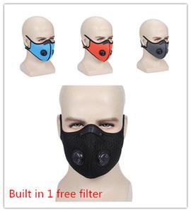 Máscara facial de tela con filtro de carbón activado PM 2.5 Anti polución y Ejecución de máscara máscaras ciclo del deporte de Protección de la cara