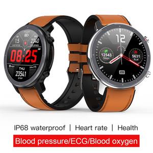 Presión reloj elegante L11 Hombres ECG + PPG Heart Rate Monitor de sangre IP68 a prueba de agua del tiempo del metal SmartWatch VS DT78 L5 L7 L8