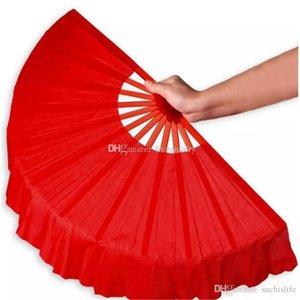 41cm Noir Plein Rouge Pliant fans Craft Danse Performce de soirée de mariage Souvenir Décoration Fournitures aa893-900 2017122302