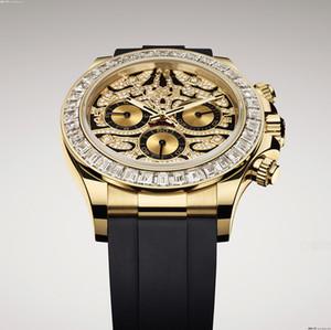 Relógios de qualidade homens designer suíço ouro luxo automático todos os trabalhos militares reloj altos homens homens famoso montre de luxo 116588 tbr relógio owevmw