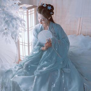 Élégant chinois traditionnel Hanfu Femmes ancienne Princesse Costume National Hanfu Costume de scène de danse folklorique Exécuter Robe DL5342