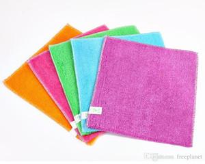 горячий сплошной цвет бамбуковое волокно кухонное полотенце микрофибра абсорбент рука сухое полотенце Кухня Ванная комната мягкие плюшевые кухонные полотенца кухонные полотенца