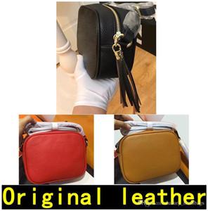 جودة عالية سوهو حقيبة ديسكو حقيبة يد رسول حقيبة الأزياء الأصلي جلد البقر حقيبة الكتف محفظة الكلاسيكية مع مربع