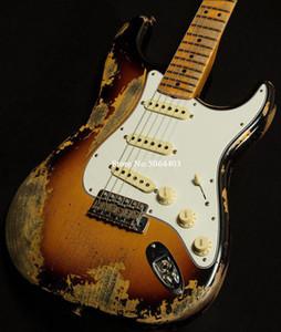 오래된 전기 기타 복고풍 공장 직접 일렉트릭 기타, 손으로 운송 비용을 포함, 오래 된, 오래 된 전기 기타를 조각