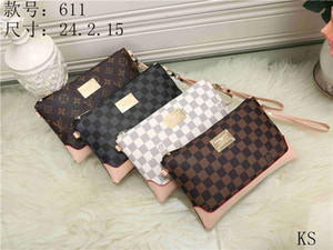 Wholesale Clutch bag Flower plaid Canvas Striped Purse Can Be Embroidery Free Shipping designer handbags purse