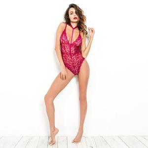 Black Lace arco bodysuit mulheres sem encosto transparentes rompers macacão sexy corpo catsuit bodysuits macacão magro Hot Sale